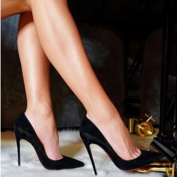 ba490bdf5ca13 Christian Louboutin Shoes | Louboutin So Kate Black Suede Pump 37 ...